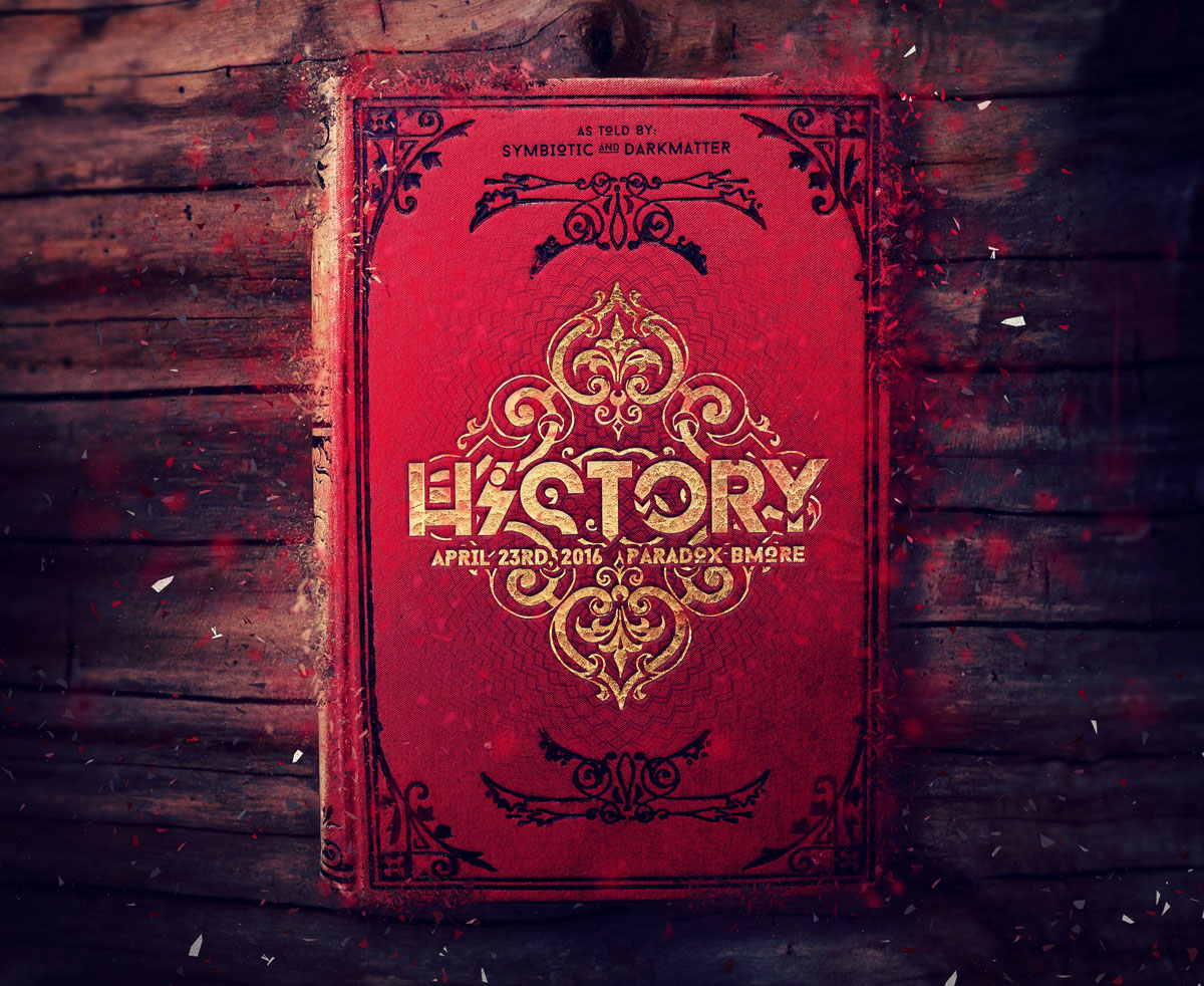 History History bi-fold event flyer design event flyer design (cover)