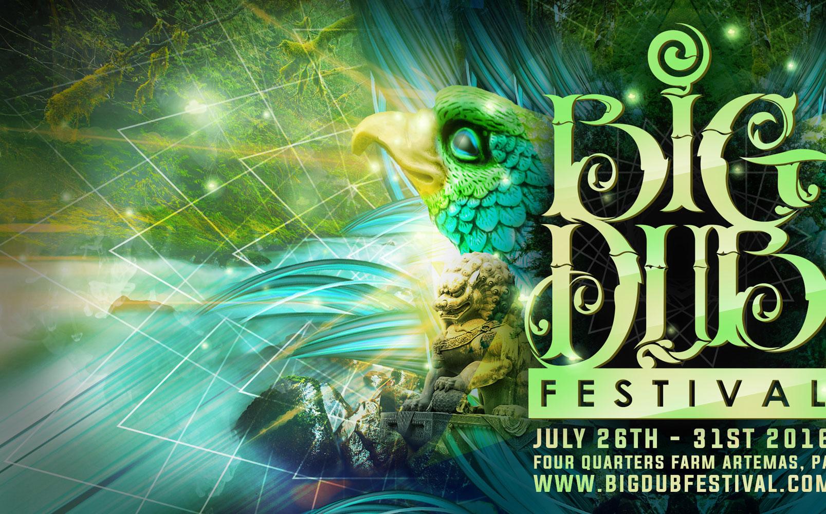 Big Dub Festival flyer design by Jay Clue (cropped)