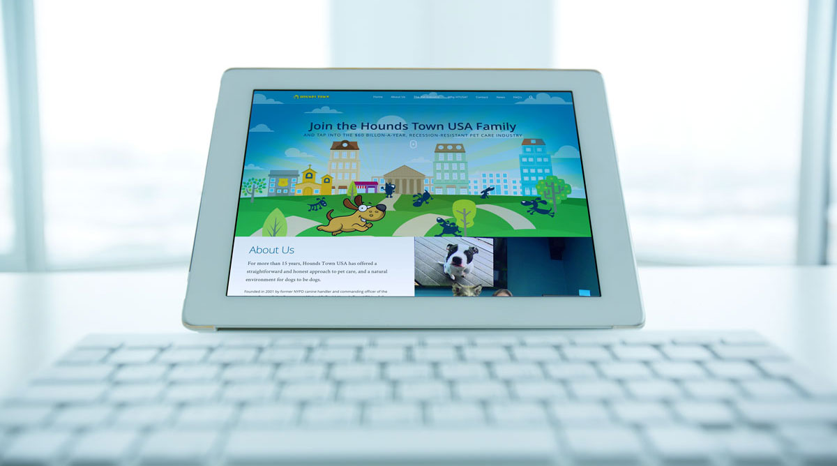 Hounds Town Franchising - Website Design