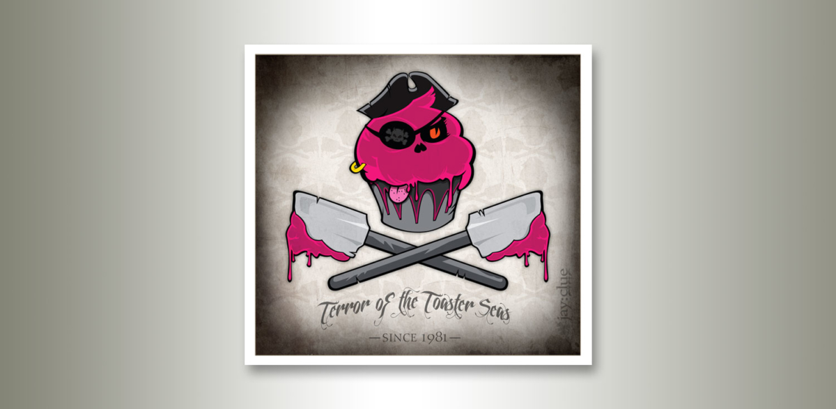 Pirate cupcake artwork by jay clue